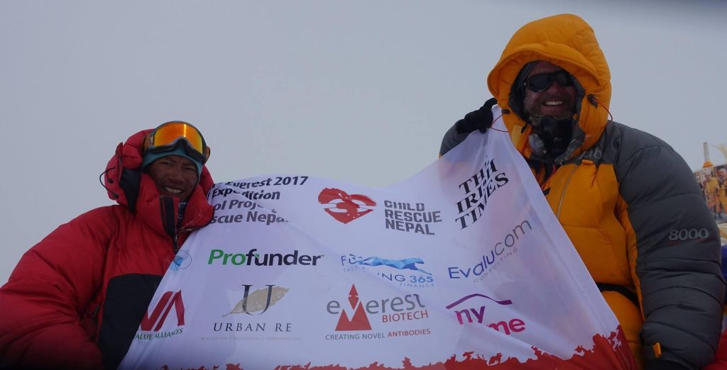 LeBruin congratulates our Profunder colleague Rory McHugh on reaching the summit of Mount Everest
